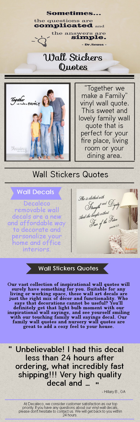 Wall Stickers Quotes | Wall Stickers Quotes | Scoop.it