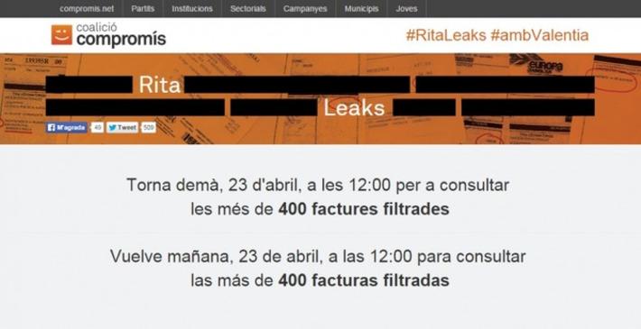Llega 'Ritaleaks': una web hace públicas las facturas de los excesos de Rita Barberá | Partido Popular, una visión crítica | Scoop.it