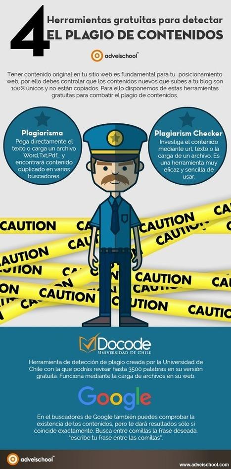 ELBLOGDEFORMACION: 4 Herramientas gratuitas para detectar el Plagio de Contenidos #infografia #infographic | TIC TAC TEP | Scoop.it