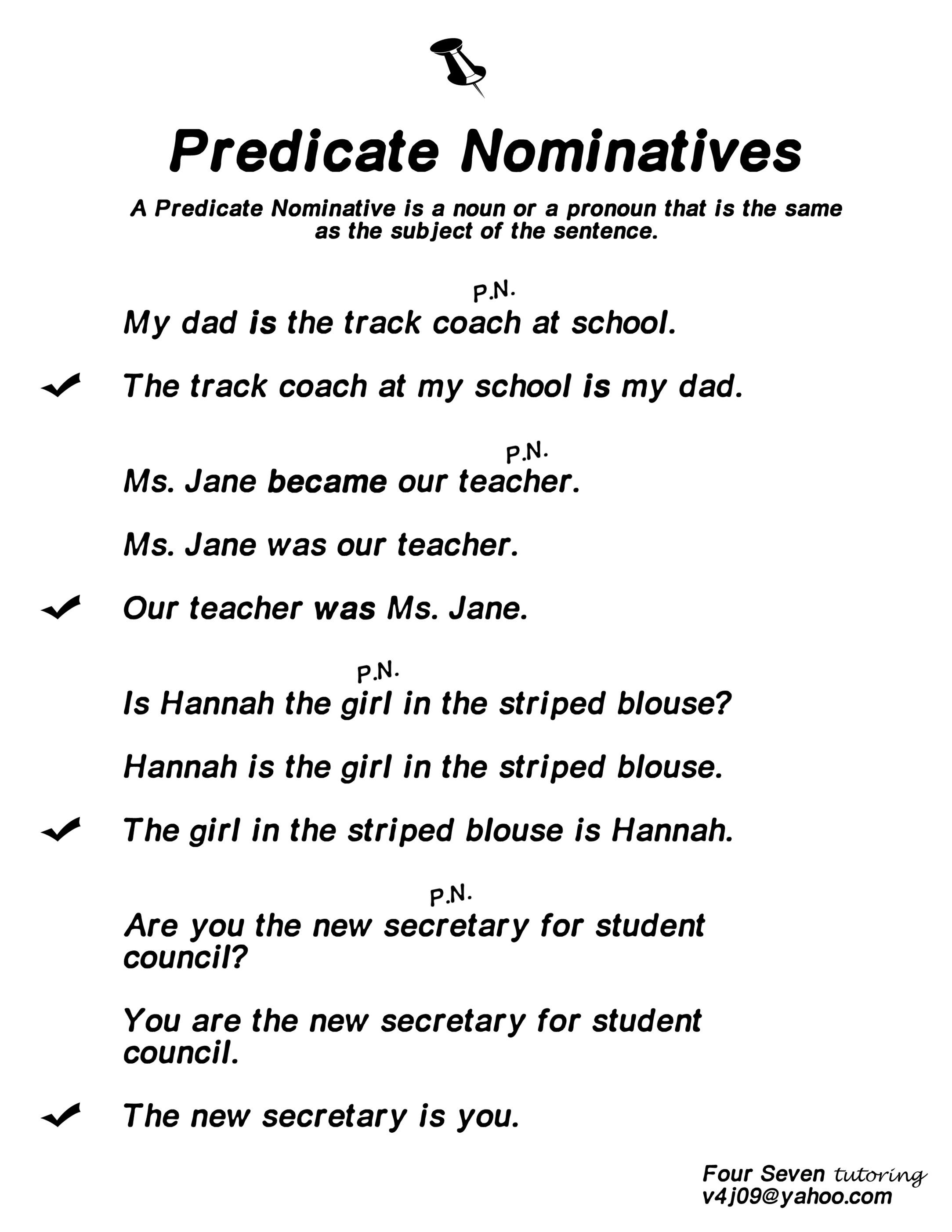 Predicate Nominative Definition, Predicate Nomi...