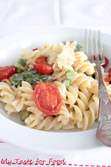my taste for food: Fusilli agli asparagi, pomodorini e cipollotto ...   Pasta   Scoop.it