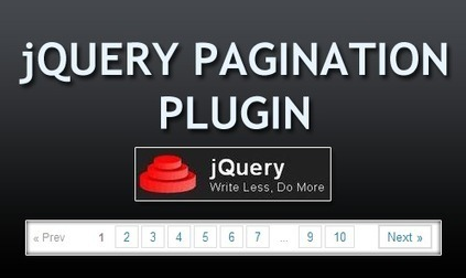 23 Free jQuery Pagination Plugins for Web Designers   Get your PSD's Converted to HTML   Scoop.it