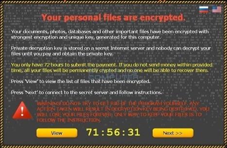 CTB-Locker : Tout ce qu'il faut savoir sur ce ransomware agressif | Libertés Numériques | Scoop.it