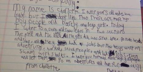Smart 7-Year-Old Explains The Problem With Gender Stereotypes In A Letter To LEGO | Brain Break | Scoop.it