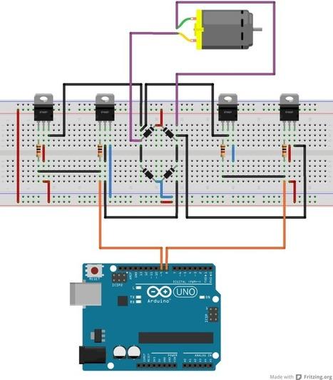 El puente H: Invirtiendo el sentido de giro de un motor con Arduino | arduino | Scoop.it