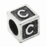Silver Metal Beads for Pandora Charms with Alphabet C 1pc PI100 [PI100] - $2.99 | Cute Pandora Charms on bracelet-bead.com | Scoop.it