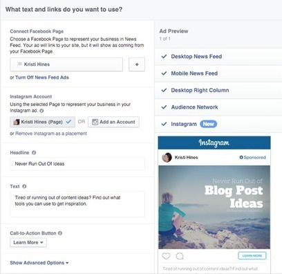 How to Create Instagram Ads Using Facebook Ads Manager | Facebook for Business Marketing | Scoop.it