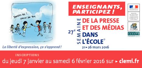 La 27e SPME, les inscriptions des établissements scolaires débutent jeudi 7/01/16 à 12h sur Le CLEMI | FLE: LANGUE-CULTURE ET CIVILISATION-DIDACTIQUE | Scoop.it