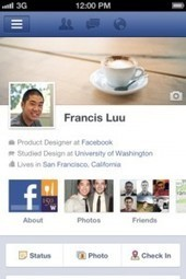 La Timeline de Facebook s'invite sous iOS | Apple World | Scoop.it