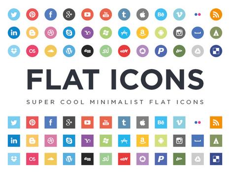 Flat Icons - Super Minimalist Social Media Icons - Smashfreakz | The 21st Century | Scoop.it