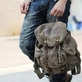cool distressed canvas daypack with leather buckle straps | personalized canvas messenger bags and backpack | Scoop.it