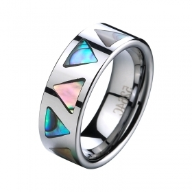 Tungsten Wedding Band withAbalone Shell Inlay -8mm - Tungstenjewellry.com | I Love Tungsten Wedding Bands | Scoop.it