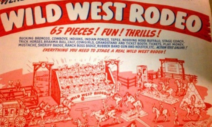 Vintage Wild West Rodeo Toy Thrills & Chills | Antiques & Vintage Collectibles | Scoop.it