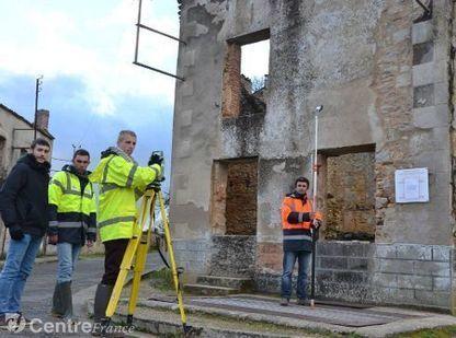 Des futurs géomètres modélisent une partie du village martyr d'Oradour | Topographie | Scoop.it