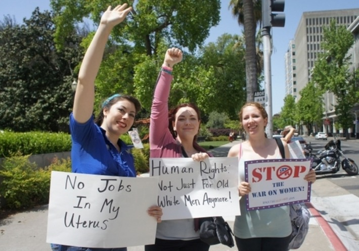 """Saying """"No More War on Women"""" in the California Capital 