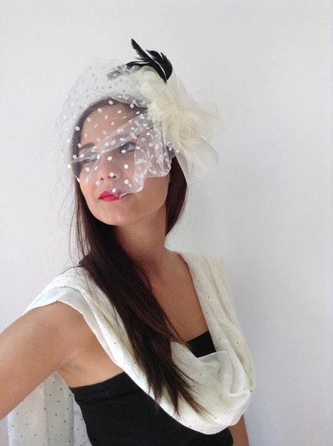 ivory bridal hat,bridal accessories, wedding accessories,Wedding Hair Accessories,  handmade, fashion, | wedding | Scoop.it