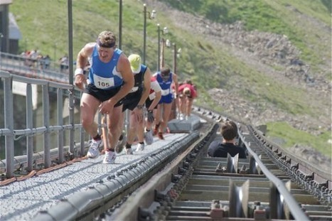 Running Up 11,674 Steps in the World's Longest Single-Staircase Race | Strange days indeed... | Scoop.it