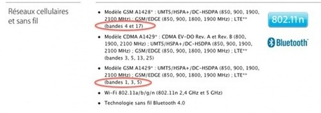 L'iPhone 5 non compatible avec la 4G LTE en France | 4G | Scoop.it