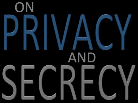 On Privacy and Secrecy | Interviews with David Brin | Scoop.it