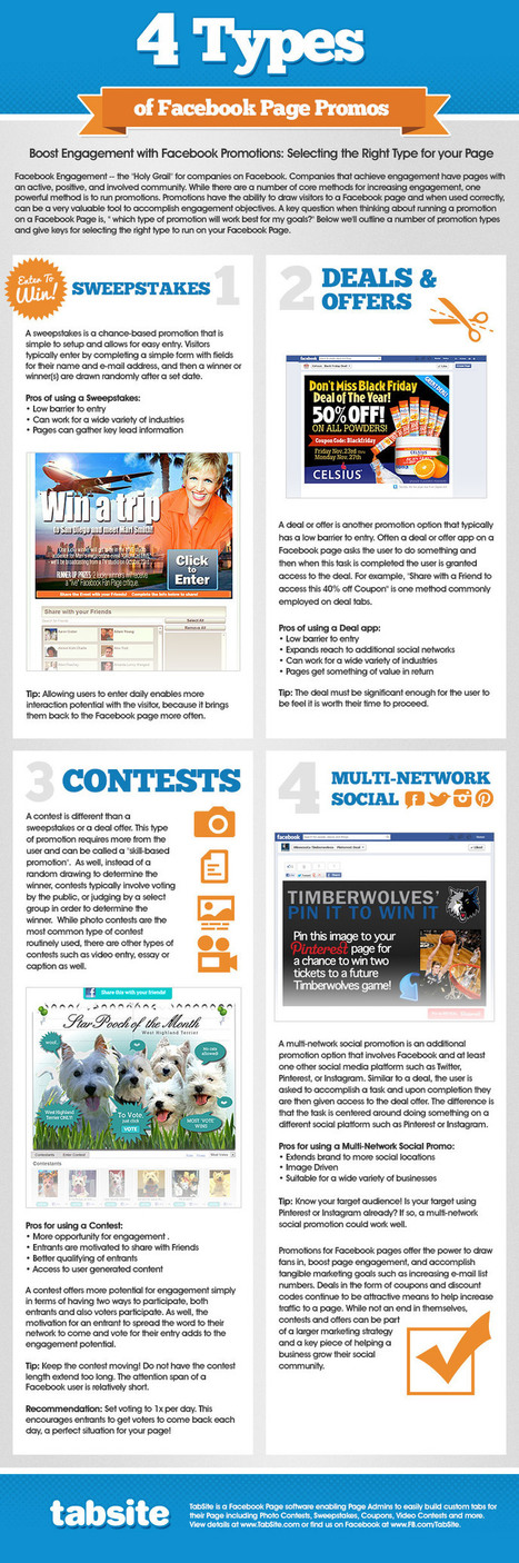 Facebook Contests and Promotion Types INFOGRAPHIC | Social Media Science | Scoop.it