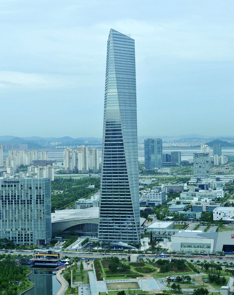 south korea's tallest skyscraper by KPF opens in incheon - designboom | architecture & design magazine | All about South Korea, from geography to culture... | Scoop.it