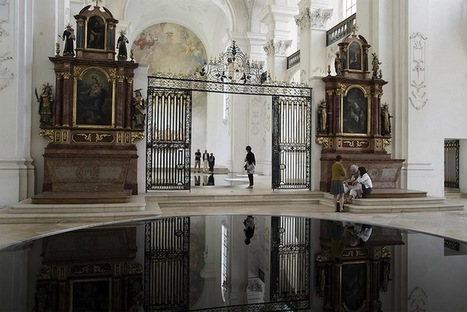 Pools of Recycled Motor Oil Reflect Spectacularly in Switzerland's Bellelay Abbey | Le It e Amo ✪ | Scoop.it