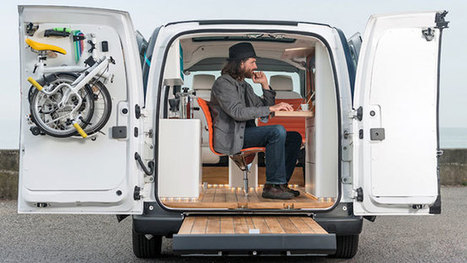 Nissan Packed a Whole Impossibly Cool Office Into the Back of This Electric Van | Automotive | Scoop.it