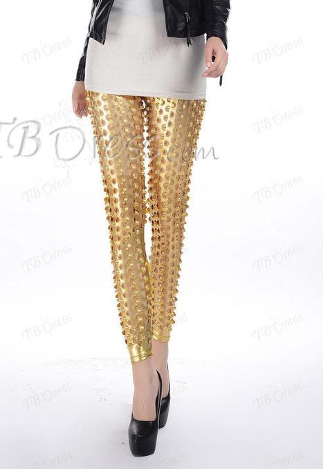 Unassailable Hot Selling Hollow Golden Leggings | Tic | Scoop.it