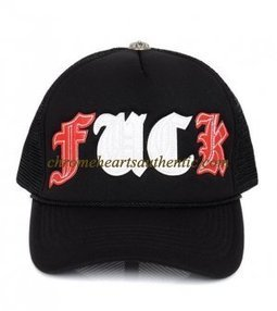 Chrome Hearts Red White FUCK Letters Patch Black Cap | my trend | Scoop.it