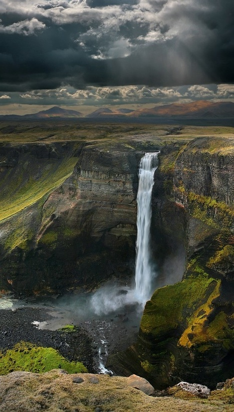 Haifoss Waterfall in Iceland | EdTech | Scoop.it