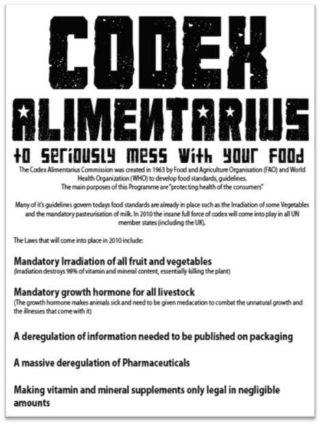 UPDATE: Results of Codex Alimentarius Meetings 2012, In Frankfurt, Germany | TheSleuthJournal | UDPATE: Codex Alimentarius Meeting 2012 | Scoop.it