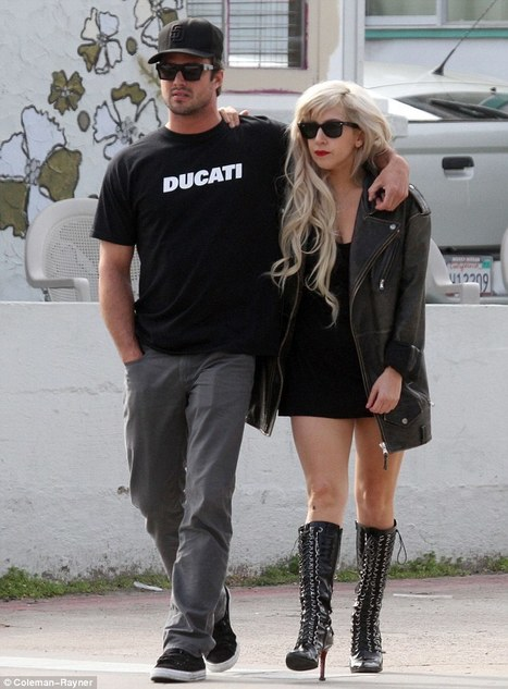 MailOnline | Lady Gaga looks smitten as she makes a rare public appearance with boyfriend Taylor Kinney in California | Ductalk Ducati News | Scoop.it