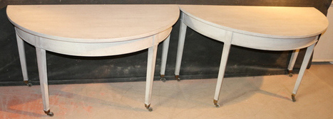 Console Tables | Early 19thC Painted Demi Lune Console Tables | French Furniture | Antique Painted Furniture UK | Scoop.it