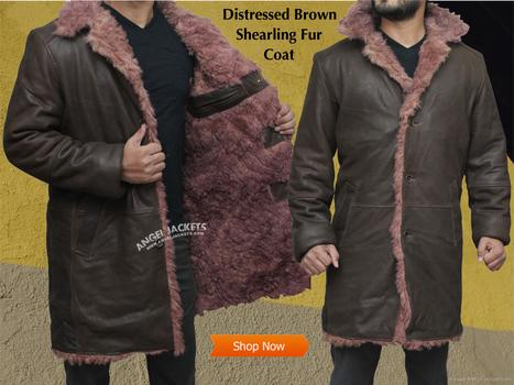 Distressed Brown Shearling Fur Coat | Black Friday & Cyber Monday Deals | Scoop.it