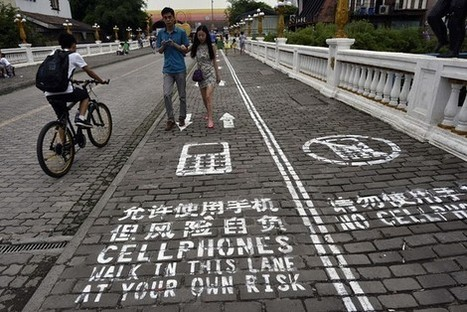 Chinese City Launches Special Lane for Cellphone Addicts | Actu de l'Aménagement Urbain | Scoop.it