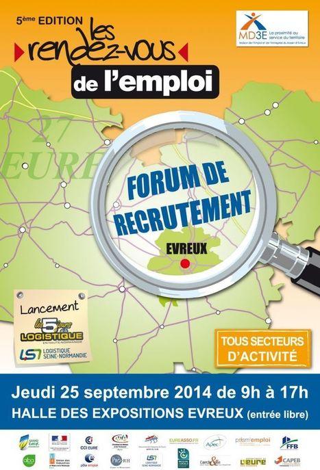 Les Rendez Vous de l'Emploi - 5ième édition le 25 septembre 2014 à Evreux - MD3E | Eureasso.fr | Scoop.it
