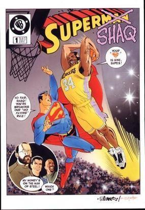 SuperShaq comic cover mockup by BroHawk     CLOVER ENTERPRISES ''THE ENTERTAINMENT OF CHOICE''   Scoop.it