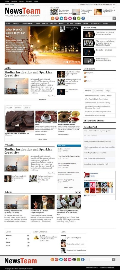 Get This Professionally Designed NewsTeam Blogger Template For News Bloggers - Helps For Webmasters | Helps For Webmasters and Websurfers | Scoop.it