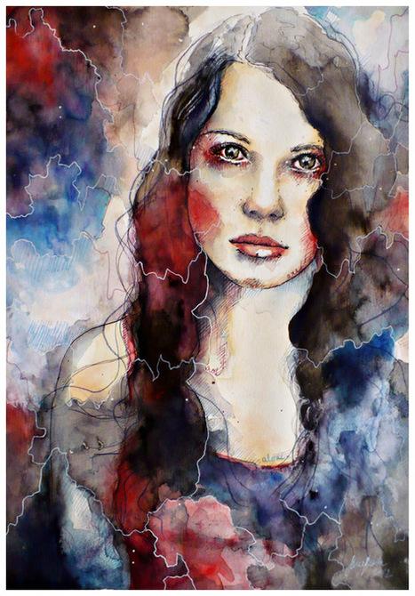 Modern Watercolor Portraits | Dezebo | Dezebo design inspiration | Scoop.it