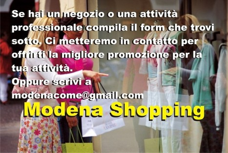 MODENA SHOPPING | centro commerciale naturale | Scoop.it
