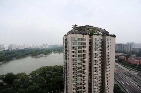 Eccentric Businessman Builds Mountain Villa atop Beijing Apartment Building | Strange days indeed... | Scoop.it