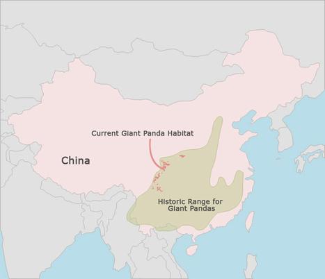 giant-panda-habitat-map.JPG (665x572 pixels) | Les Pandas | Scoop.it