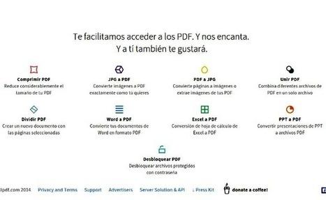 Smallpdf: suite online de herramientas para trabajar con PDF | Tastets de TIC I TAC | Scoop.it