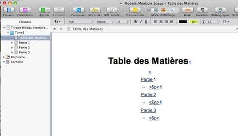 Scrivener creer une table des matieres pour PDF | Scrivener, lecture et écriture numérique | Scoop.it