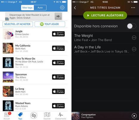 Shazam transforme automatiquement vos tags en playlists Spotify | Techno News | Scoop.it
