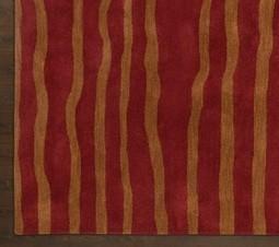 Rugsville Stripes Weaves Rust Wool 17101 Rug - MODERN | Modern and Contemporary Rugs | Scoop.it