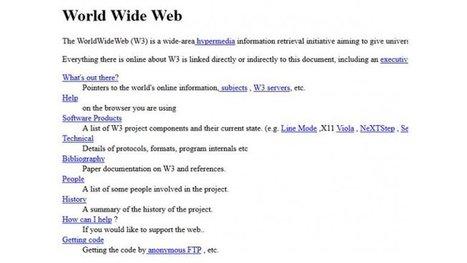 Vuelve a estar online la primera página web de la historia | Natura educa | Scoop.it