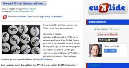 Les 4 erreurs mortelles qui font que 99% blogs ne seront JAMAIS rentables ! | Blogs | Scoop.it