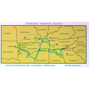 """Cherokee History ~ The """"Trail of Tears ~ The Indian Removal ... 