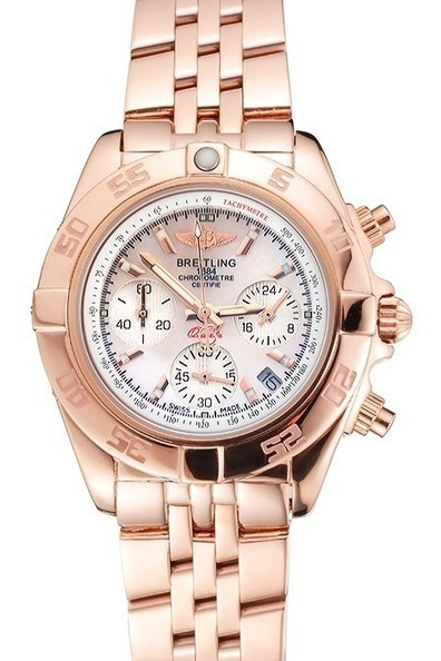 Replica Breitling Chronomat Quartz Pearl Dial Rose Gold Case And Bracelet-$245.00 | Men's & Women's Replica Watches Collection Online | Scoop.it